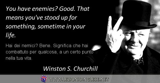 """aforismi di Churchill con """"sometime"""""""