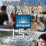 viaggio studio malta: 15% sconto