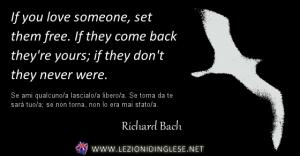 aforisma richard bach if you love someone-set